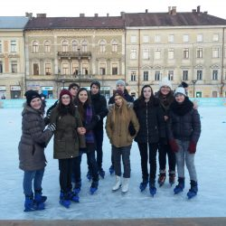 Ice skating with teenagers